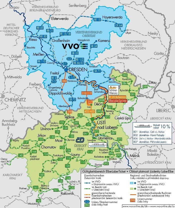 Elbe-Labe: Nejlepší jízdenka do Saska